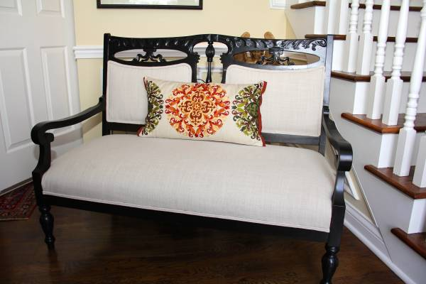 Antique Refinished/Reupholstered Love Seat     $600     View on Craigslist