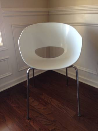 CB2 White Orbitz Chairs     $50 each   These chairs retail for $129. Seller has 6 available.     View on Craigslist