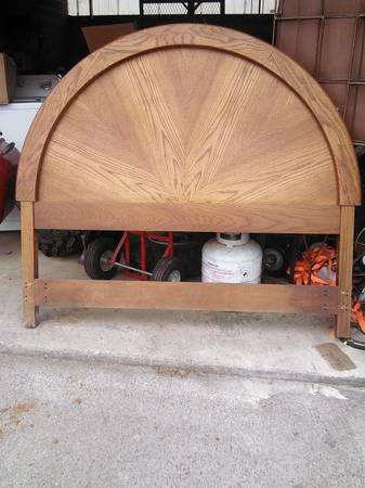 All Wood Headboard     $30     View on Craigslist