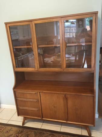Mid Century China Cabinet $200 View on Craigslist