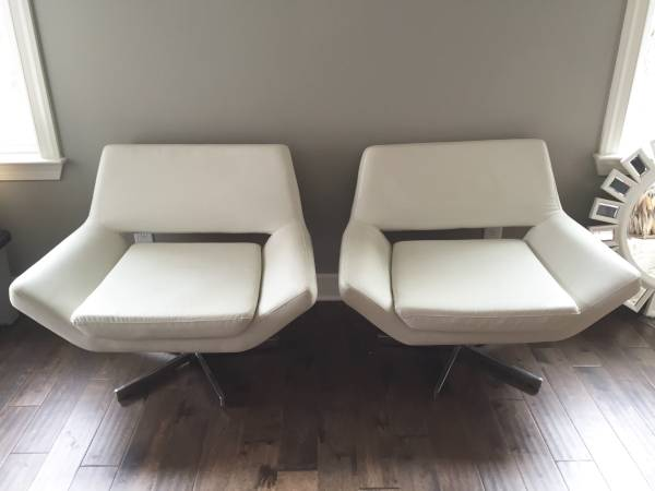Pair of Z Gallerie Chairs $250 This is a great deal for this pair of leather chairs. View on Craigslist