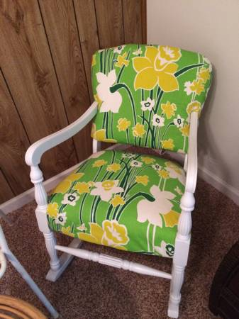 Vintage Reupholstered Rocker     $40     View on Craigslist