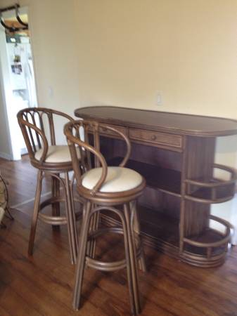 Vintage Rattan Bar Set     $100     View on Craigslist