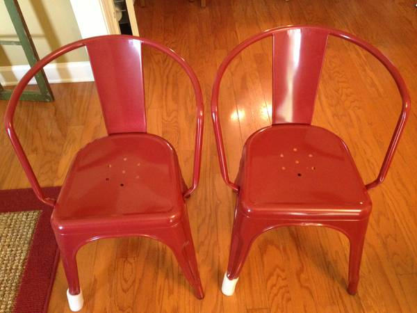 Pair of Red Metal Chairs     $45     View on Craigslist
