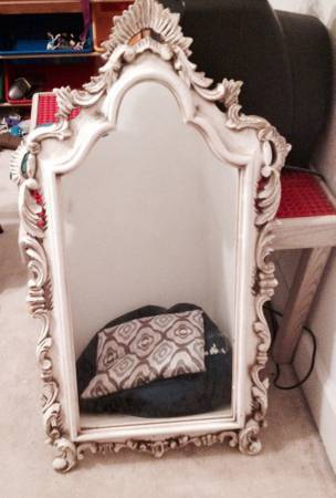 Ornate Mirror     $200   This mirror would be perfect in a powder room.    View on Craigslist