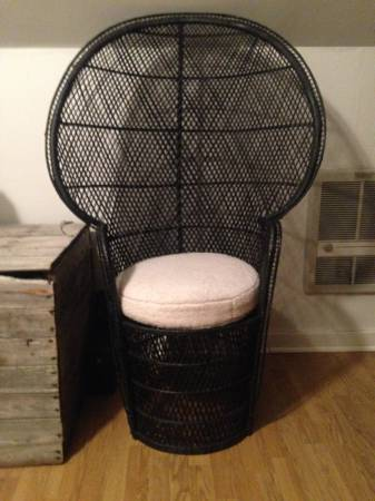Black Peacock Chair     $75     View on Craigslist