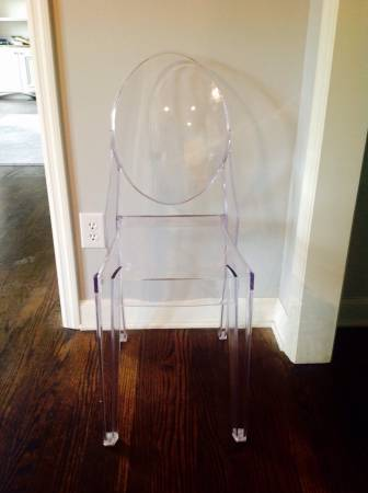 Set of 4 Ghost Chairs     $100     View on Craigslist