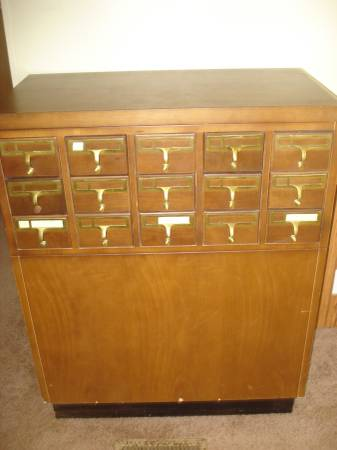 Vintage Library Card Catalog     $350     View on Craigslist