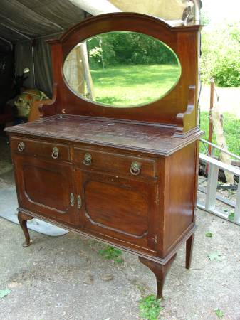 Antique Buffet with Mirror     $185     View on Craigslist