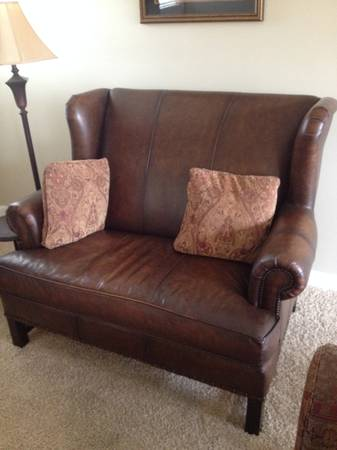 Haverty's Leather Settee     $400     View on Craigslist