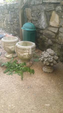 Pair of Concrete Planters $95 View on Craigslist