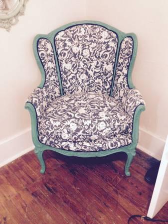 Vintage Reupholstered Wingback     $120     View on Craigslist