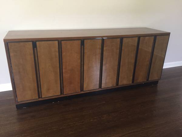 Vintage Buffet     $50   This piece has a great modern look and would make a perfect entertainment center.    View on Craigslist