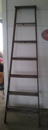 Old Wooden Ladder     $20   This would make a great decorative piece leaning up against a wall.    View on Craigslist