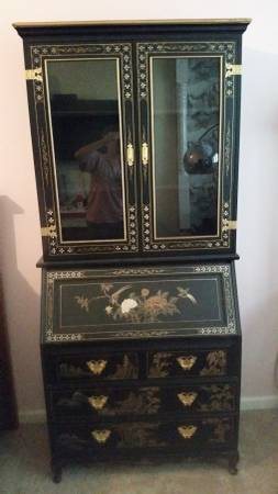 Black Chinoiserie China Cabinet $350 View on Craigslist