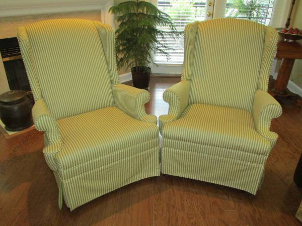 Pair of Wingback Chairs $175 View on Craigslist