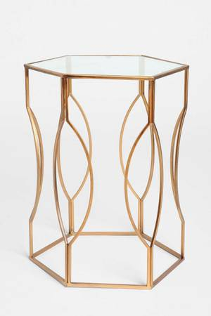 Gold Hexagon Side Table $50 View on Craigslist