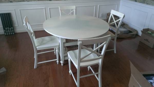 Pottery Barn Table and Chairs $450 View on Craigslist