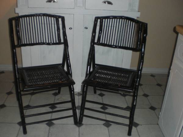 Pair of Bamboo Folding Chairs     $25     View on Craigslist