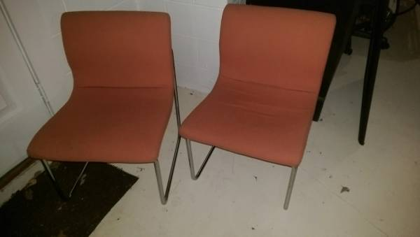 Pair of Retro Orange Chairs     $30     View on Craigslist