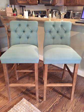 Pair of Tufted Barstools     $100   hese barstools retailed for $100 each at Target.    View on Craigslist