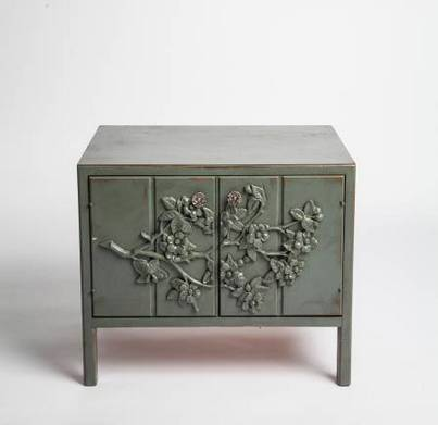 Vintage End Tables     $75 each   There are 2 available - I love the floral detail on the front of these.    View on Craigslist