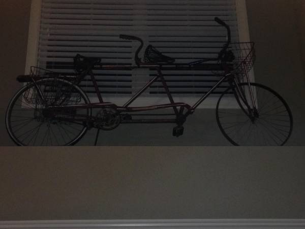 Antique Tandem Bicycle     $125   This would be a fun decorative piece.     View on Craigslist