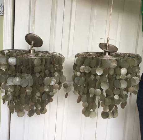 Pair of Capri Shell Chandeliers     $60     View on Craigslist