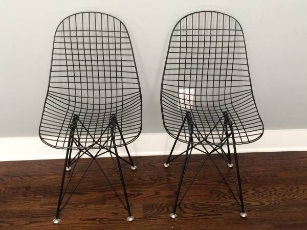 Pair of Wire Eames Chairs     $250     View on Craigslist
