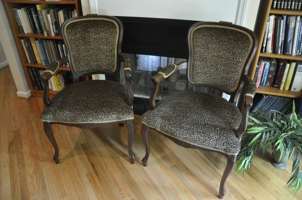 Leopard Print Chairs     $80 each     View on Craigslist