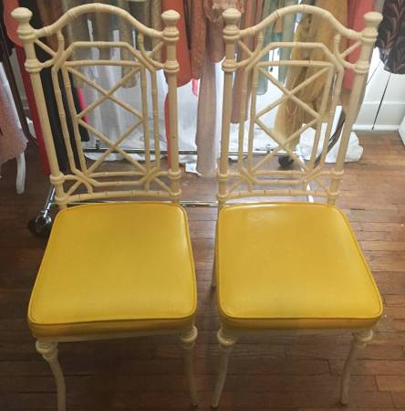 Pair of Faux Bamboo Metal Chairs     $150     View on Craigslist