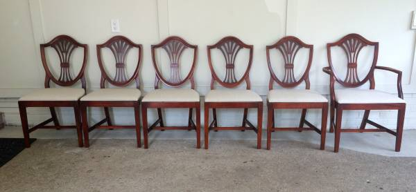 Antique Shield Back Chairs     $325     View on Craigslist