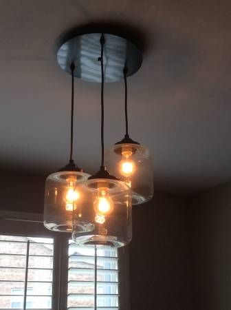 West Elm Chandelier     $100   This light fixture retails for $249 at West Elm.    View on Craigslist