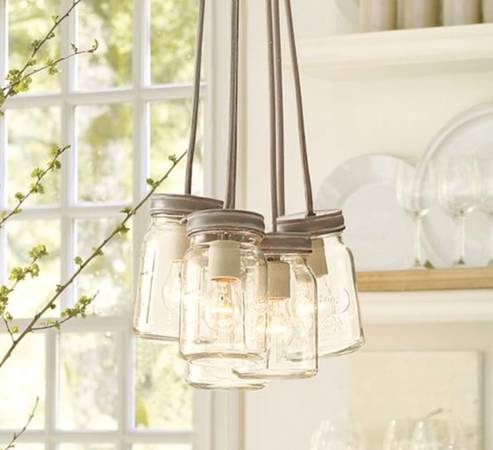 Pottery Barn Mason Jar Chandelier     $100   This light fixture is brand new and retails for $149 at Pottery Barn.     View on Craigslist