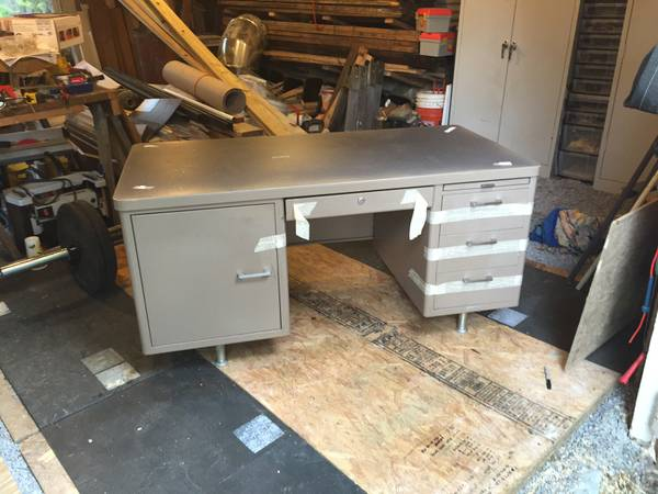 Vintage Steel Desk $50 View on Craigslist