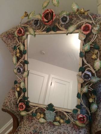 Vintage Floral Mirror     $35     View on Craigslist