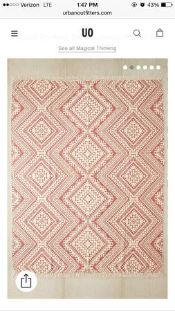 Urban Outfitters 8' x 10' Rug     $210     View on Craigslist