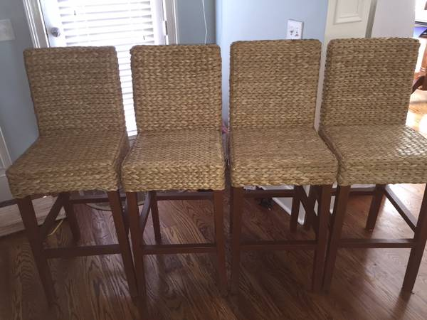 Set of Seagrass Barstools     $240   These retailed for $120 each.    View on Craigslist