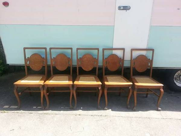 Antique Oak Chairs     $30 each     View on Craigslist