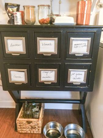 Card Catalog Table $60 View on Craigslist