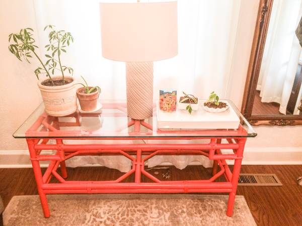 Vintage Bamboo Table     $100     View on Craigslist