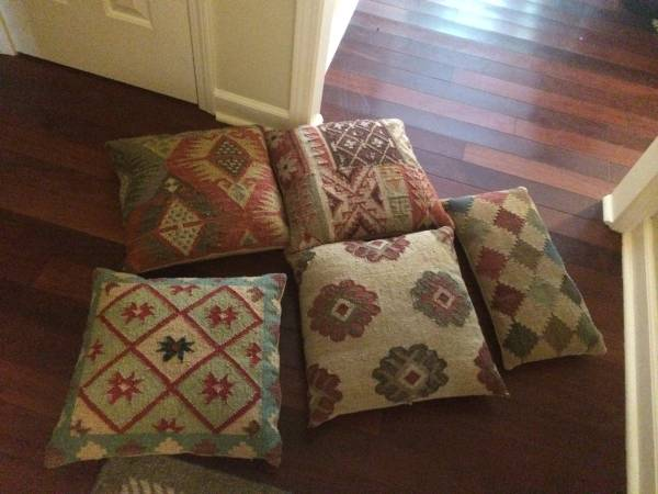 Set of 5 Grandinroad Pillows     $50   Pillows were originally $40 each.    View on Craigslist