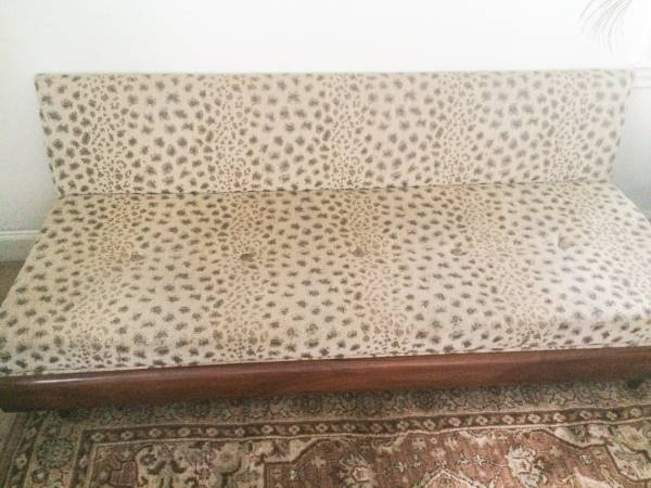 Mid Century Reupholstered Sofa $600 View on Craigslist