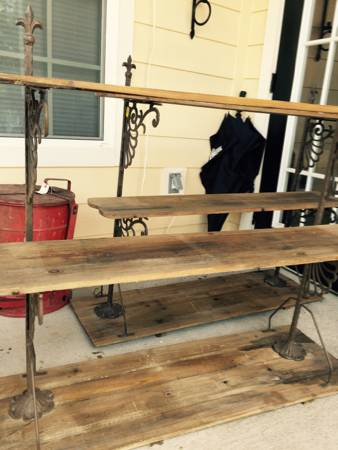 Pair of Wood and Metal Shelves $75 View on Craigslist