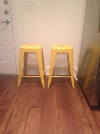 Pair of Yellow Stools $40 View on Craigslist