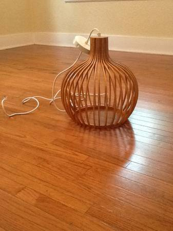 Modern Wood Light Fixture $40 View on Craigslist