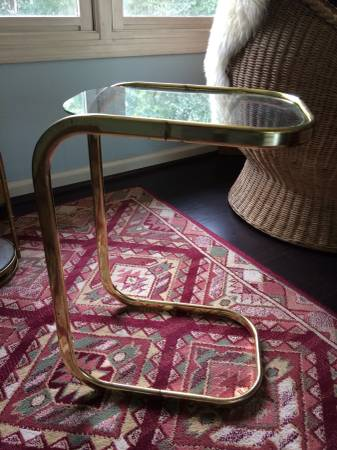 Vintage Brass Side Table     $20     View on Craigslist