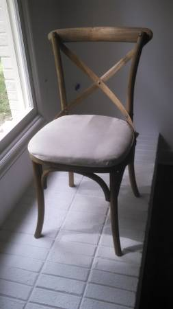 Set of 8 Restoration Hardware Chairs $400 These would work really well with the Restoration Hardware table I spotted today from another seller. These chairs are currently on sale for $99 each.  View on Craigslist