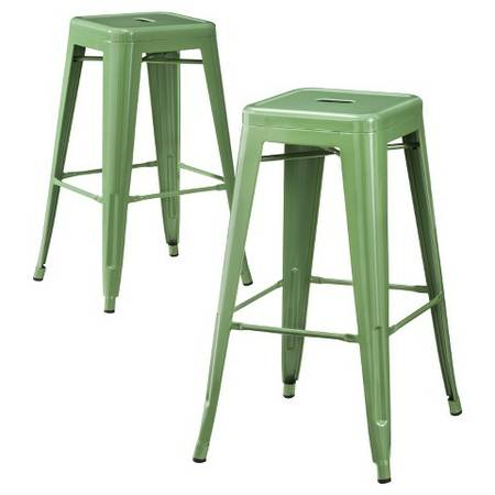 Pair of Green Metal Stools $50 View on Craigslist