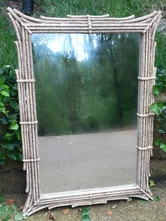 Faux Bamboo Mirror $95 Love this mirror - think it would look good spray painted gold.  View on Craigslist
